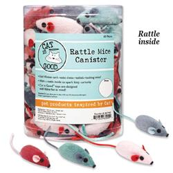 Cat is Good Rattle Mice Canister