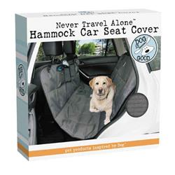 Dog Is Good Never Travel Alone Car Seat Cover, Gray