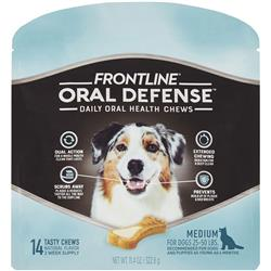 Frontline Oral Defense Daily Oral Health Chews for Medium Dogs - 25-50 lbs (14 count)
