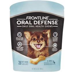 Frontline Oral Defense Daily Oral Health Chews for Extra-Small Dogs - 5-10 lbs (28 count)