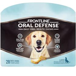 Frontline Oral Defense Daily Oral Health Chews for Large Dogs - Over 50 lbs (28 count)