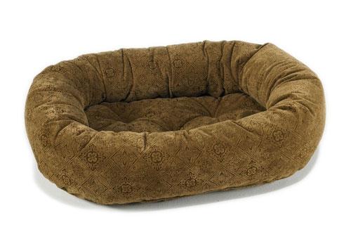 Donut Bed Pecan Filigree Microvelvet