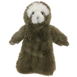 "Fuzzy Stuffless Crinkle Sloth Toy (8"")"