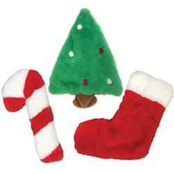 "Fuzzy Stuffless Crinkle Holiday Toys (8.5"")"