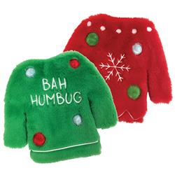"Fuzzy Stuffless Crinkle Ugly Sweater Toy (9"")"