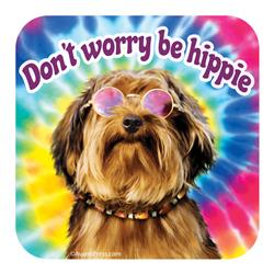 Don't Worry Be Hippie Coaster
