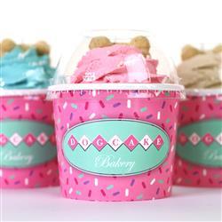 Dog Cupcake | Peanut Butter | Pink