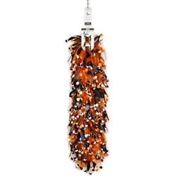 Aria Pumpkin & Pompom Scrunchy Clip Strip, 12-Pieces