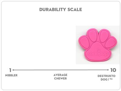 SodaPup Paw Shaped Ultra Durable Nylon Dog Chew Toy for Aggressive Chewers, Guaranteed Tough, Non-Toxic, Reduces Boredom and Problem Chewing, Made in USA, Pink, Large