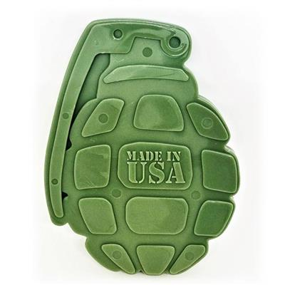 USA-K9 by SodaPup Nylon Grenade Shaped Ultra Durable Dog Chew Toy for Aggressive Chewers, Guaranteed Tough, Non-Toxic, Reduces Boredom and Problem Chewing, Made in USA, One Size Fits All