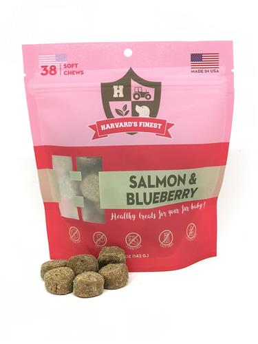 Harvard's Finest Salmon & Blueberry Grain-free Soft Treats (5 oz.)