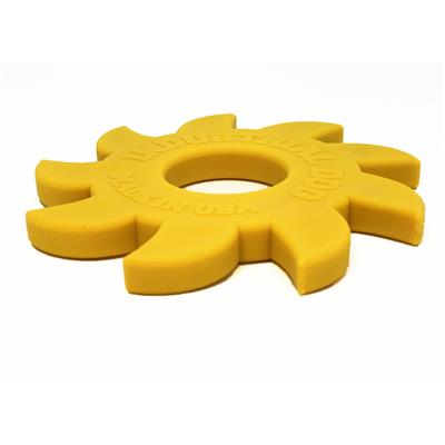 Industrial Dog by SodaPup Saw Blade Shaped Ultra Durable Nylon Dog Chew Toy for Aggressive Chewers, Guaranteed Tough, Non-Toxic, Reduces Boredom and Problem Chewing, Made in USA, Large, Yellow