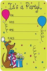 Crunch Card for Dogs- Happy Birthday Edible Invitation