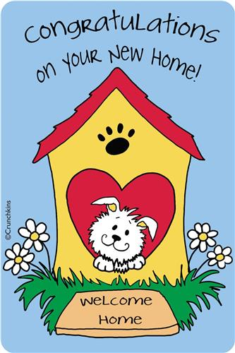 Crunch Card - Congratulations on Your New Home - (dog house)
