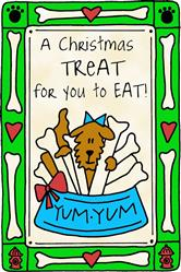 Crunch Card for Dogs - Christmas Treat for You to Eat