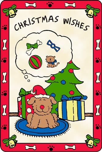 Crunch Card for Dogs - Christmas Wishes