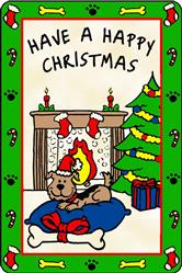 Crunch Card for Dogs - Have a Happy Christmas