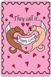 Crunch Card - They Call It Puppy Love, Edible Greeting Card for Dogs