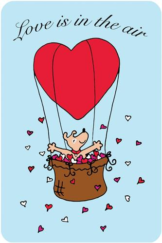 Crunch Card - Love is in the Air, Edible Greeting Card for Dogs