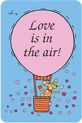Crunch Card - Love in in the Air, Edible Greeting Card for Dogs