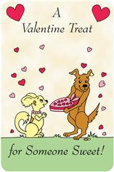 Crunch Card - A Valentine Treat for You to Eat, Edible Greeting Card for Dogs