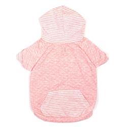 Dot/Stripe Hoodie Pink