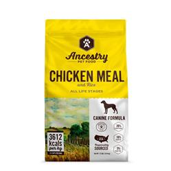 Ancestry Dog Food - CHICKEN MEAL AND RICE