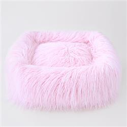Himalayan Yak Dog Bed: Ballerina Pink