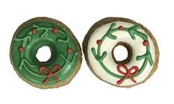 Holiday Wreath Doughnuts