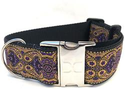 Kashmir Sultan Purple Extra Wide Dog Collar
