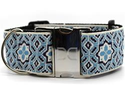 Santorini by the Sea Extra Wide Dog Collar