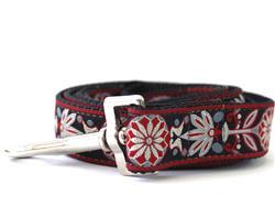 Mandala Star Carnelian Red Dog Leash