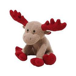"""9"""" Red Moose Corduroy Squeak Toy by JAX & BONES"""