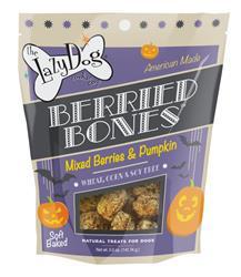 Berried Bones 5 oz Mixed Berries & Pumpkin Treats by Lazy Dog