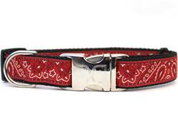 Bandana-Rama Collar Rose Gold Metal Buckles