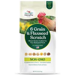 Manna Pro 6 Grain & Flaxseed Scratch, Non-GMO, 10lb