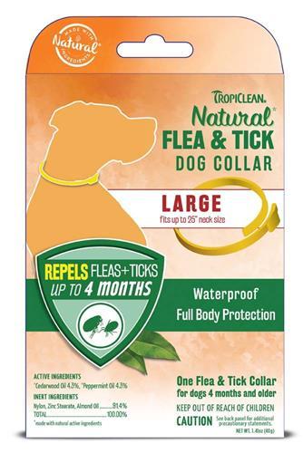 TROPICLEAN NATURAL FLEA & TICK DOG COLLAR LARGE