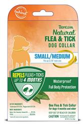 TROPICLEAN NATURAL FLEA & TICK DOG COLLAR SMALL/MEDIUM