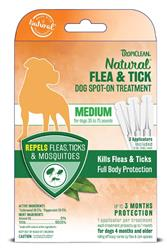TROPICLEAN NATURAL FLEA & TICK SPOT ON TREATMENT MEDIUM DOG 3PK