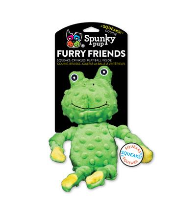 """13"""" Frog with Ball Squeaker Furry Friends Toy"""