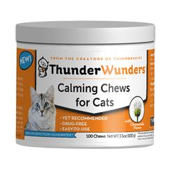 ThunderWunder Cat Calming Chews 100 Count Jar