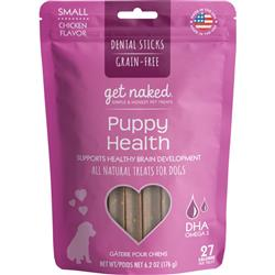 Get Naked® Puppy Health Dental Chew Sticks, 6.2 oz, pouch small