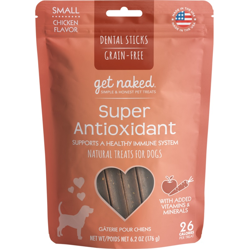 Get Naked® Dental Chew Sticks, Super Antioxidant, Small