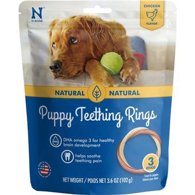 N-Bone® Puppy Teething Rings Chicken (1,3 & 6 PACKS)
