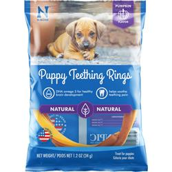 N-Bone® Puppy Teething Rings Pumpkin (1,3 & 6 PACKS)