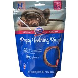 N-Bone® Puppy Teething Rings Blueberry & BBQ (6 PACK)