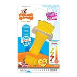 NYLABONE CHILL & CHEW COLOR CHANGE PUPPY MINI SOUPER BONE LAMB & APPLE