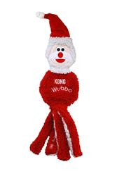 KONG Holiday Wubba Flatz Santa Large