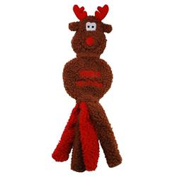 KONG Holiday Wubba Flatz Reindeer Large