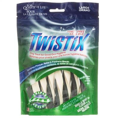 NBONE DOG TWISTIX VANILLA-MINT  LARGE 5.5 OZ.